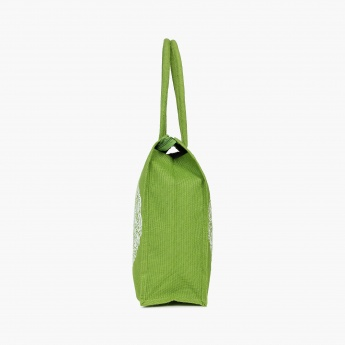 Livia Jute Tree Print Shopping Bag