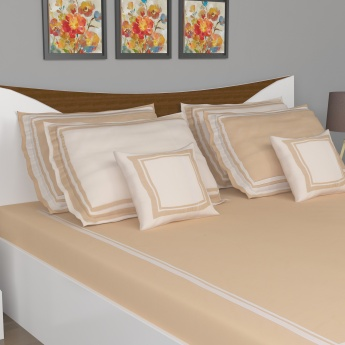 Ananda Catalina Contemporary Double Bed Sheet Set- 7 pcs.