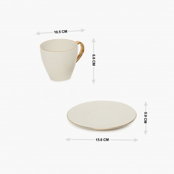Altius Neo Silk Cup & Saucer Set- 2 Pcs.