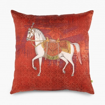 Aurora Ashva Ethnic Print Filled Cushion