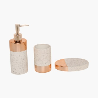 Addison Strengthened Ceramic Bath Accessories- 3 Pcs.