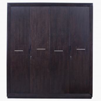 Transitional Four Door Wardrobe