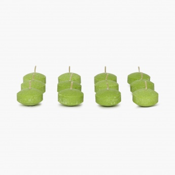 Colour Connect Floating Candle Set-12 Pcs. Green Apple