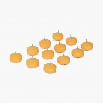Colour Connect Floating Candle Set-12 Pcs. Muskmelon