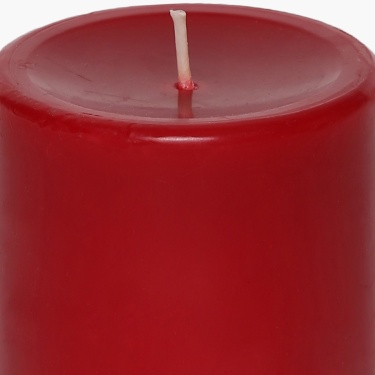 Colour Connect Pillar Candle 3 Inches-Raspberry