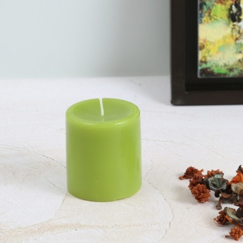 Colour Connect Pillar Candle 3 Inches-Green Apple