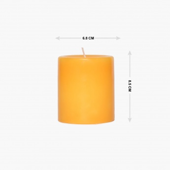 Colour Connect Pillar Candle 3 Inches-Muskmelon
