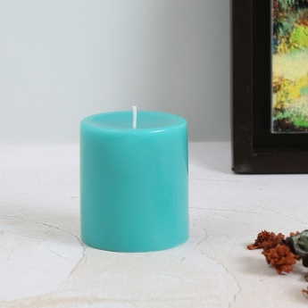 Colour Connect Pillar Candle 3 Inches-Blueberry