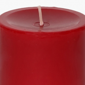 Colour Connect Pillar Candle 4 Inches-Raspberry