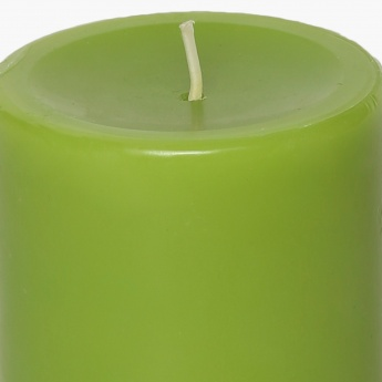 Colour Connect Pillar Candle 4 Inches-Green Apple