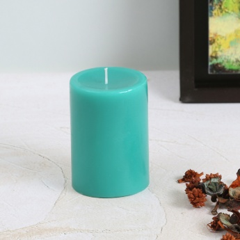 Colour Connect Pillar Candle 4 Inches-Blueberry
