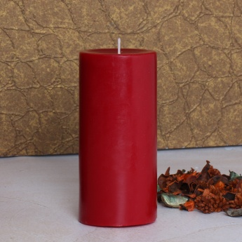 Colour Connect Pillar Candle 6 Inches-Raspberry