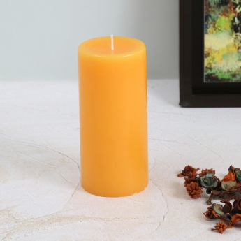 Colour Connect Pillar Candle 6 Inches-Muskmelon