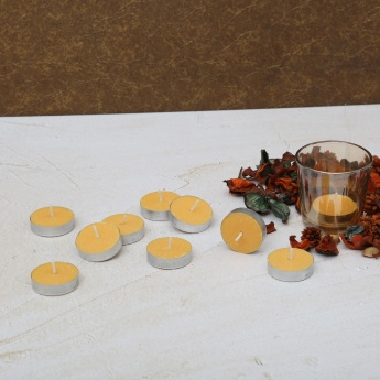 Colour Connect Tealight Set-10 Pcs. Muskmelon