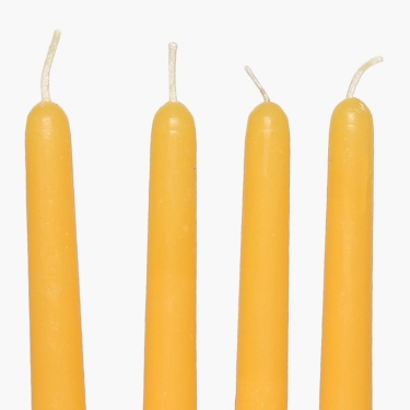 Colour Connect Taper Candle Set-4 Pcs. Muskmelon
