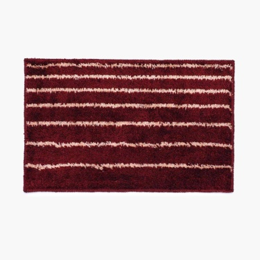 Radiance Striped Fluffy Rectangular Doormat