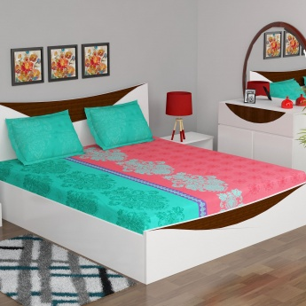 Carnival Printed Double Bed Sheet Set- Pack Of 3 Pcs.