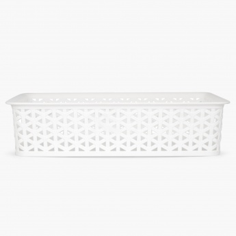 REGAN Textured Plastic Rectangular Storage Basket