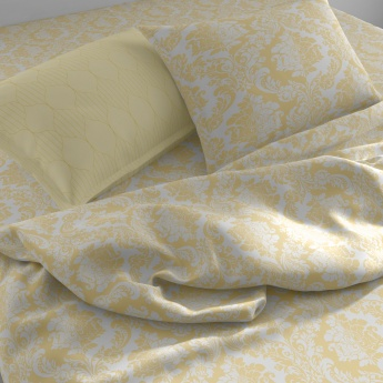 SPACES Printed Double Bed Sheets - Set of 3 Pcs.
