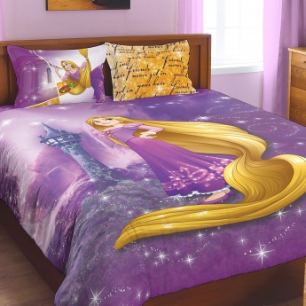 SPACES Rapunzel Print Double Bed Sheets - Set of 3 Pcs.