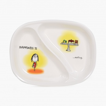 Aleka Happiness Is Divided Plate- Set Of 2 Pcs.