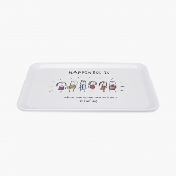 Aleka Happiness Serving Tray Set- Pack Of 2 Pcs.
