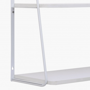 Lilly 2 Tier Shelf With Metal Support