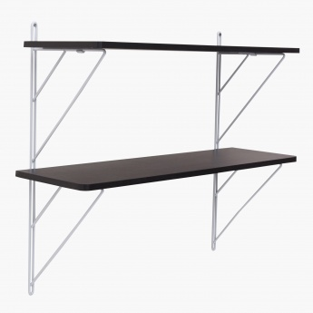 Laura 2 Tier Shelf With Metal Support