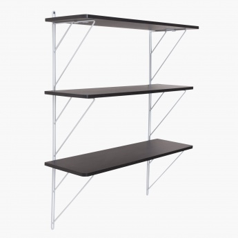 Laura 3 Tier Shelf With Metal Support