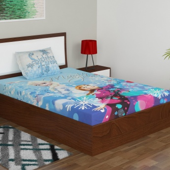 Frozen Single Bed Sheet And Pillow Cover