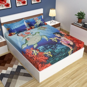 Doraemon Double Bedsheet Set- 2 Pcs.