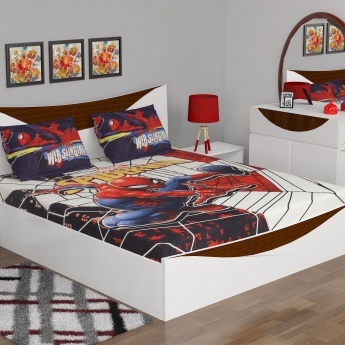 Spiderman Double Bed Sheet Set- 3 Pcs.
