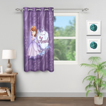 Sofia the First Printed Cotton Single Window Curtain