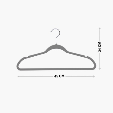 Solid Clothes Hanger-Set Of 6Pcs