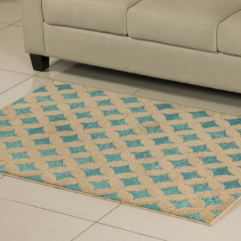 Cloud Crystal Peak Contemporary Printed Rug