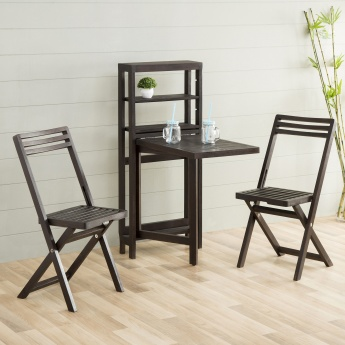 Lewis  Contemporary Solid Wood Wall Table With Chair