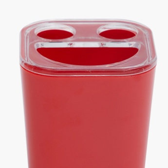 Hilda Armon Solid Plastic Square Toothbrush Holder