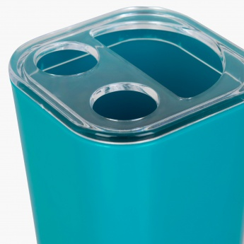 HILDA DAINTREE Solid Plastic Square Toothbrush Holder