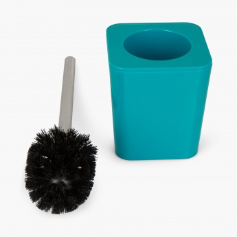 HILDA DAINTREE Solid Plastic Square Toilet Brush Holder