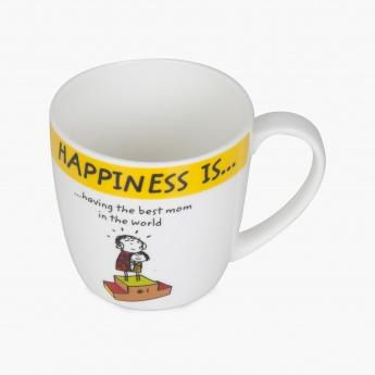 DORIS-HAPPINESS Printed Bone China Coffee Mug