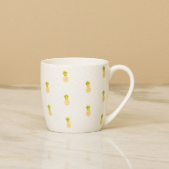 RAISA-RETRO Printed Bone China Coffee Mug