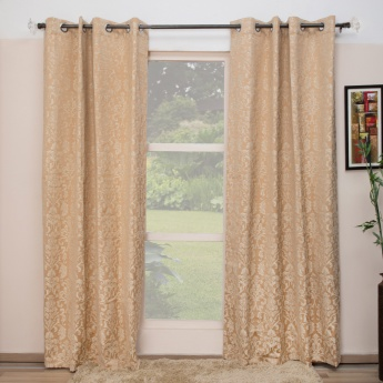 Floss Floral Door Curtain-Set Of 2 Pcs.