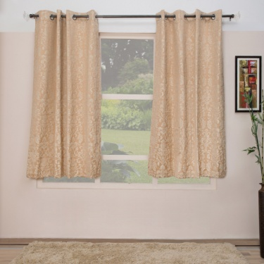 Floss Floral Window Curtains-Set Of 2 Pcs.