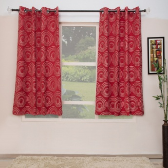 Floss Contemporary Window Curtains-Set Of 2 Pcs.