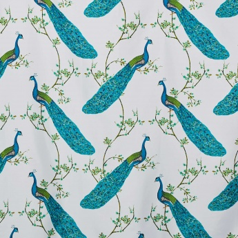 Hudson Peacock Printed Ring Rod Shower Curtain