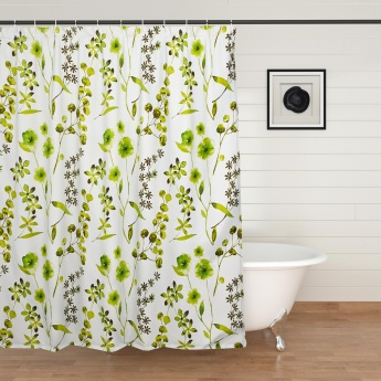 Hudson Rainforest Printed Ring Rod Shower Curtain