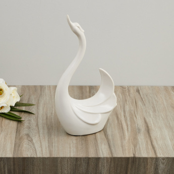 Vitara Textured Abstract Swan With Raised Head