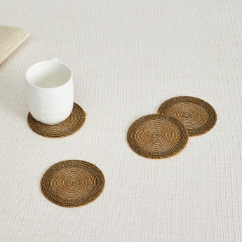 Cinder Treasure Beaded Coaster- Set Of 4 Pcs.