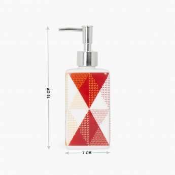 HUDSON Diamonds Printed Ceramic Square Soap Dispenser