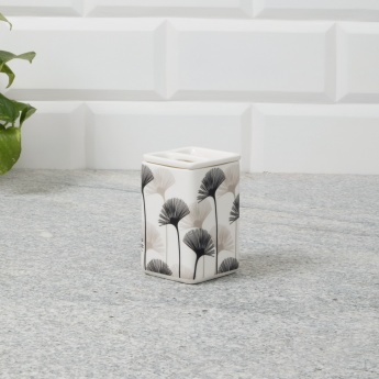 Hudson Goodwin Printed Ceramic Square Toothbrush Holder